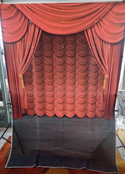 רקע מודפס-תאטרון