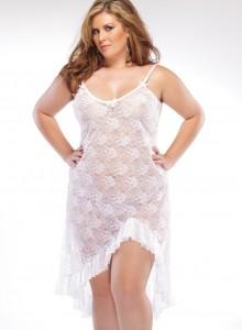 שמלה סקסית לבנה כולל חוטיני