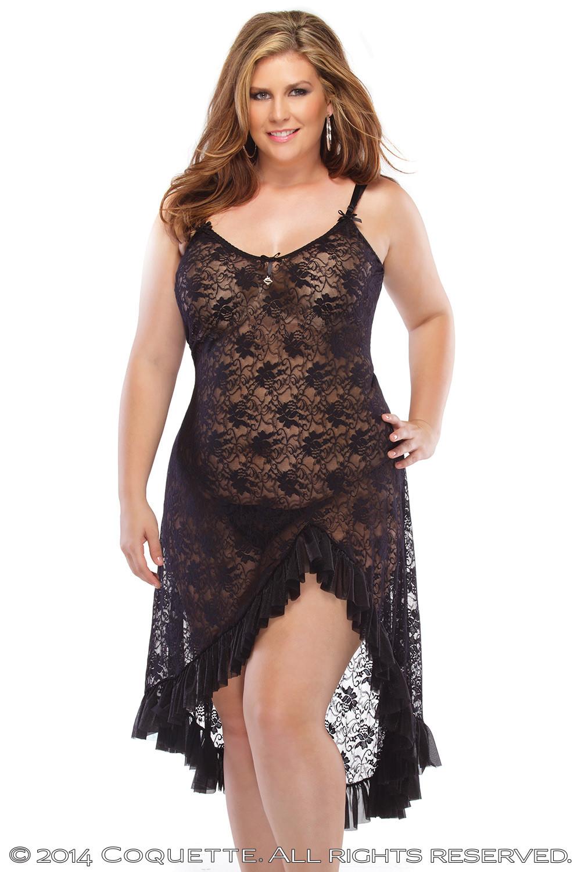 שמלה סקסית שחורה כולל חוטיני