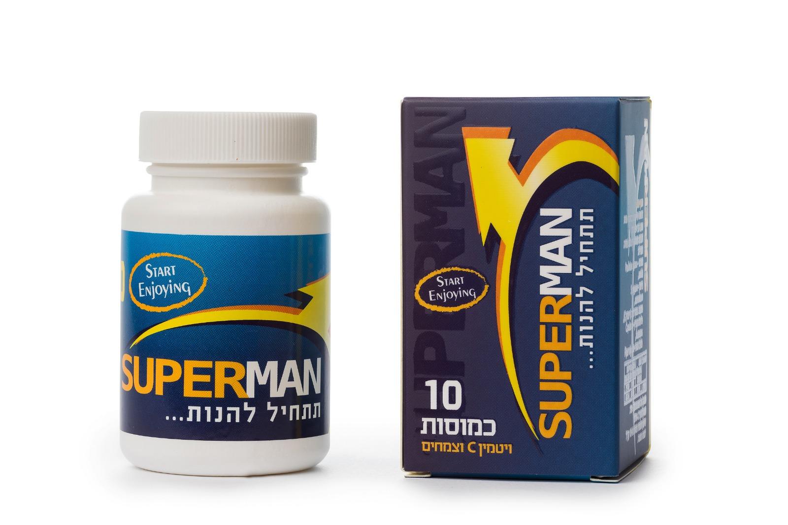 תחליף ויאגרה - 30 כמוסות צמחיות SUPERMAN