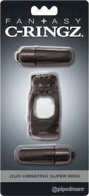 טבעת רטט זוגית כפולה עם 2 מנועים pipedream