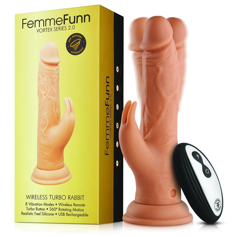 מאלץ אורגזמה נצמד עם שלט רחוק FemmeFunn