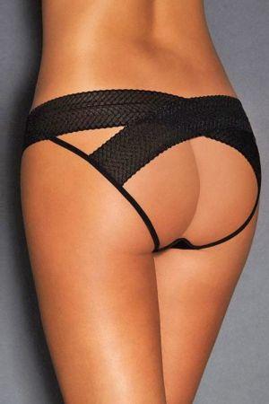 תחתון שחור סקסי פתוח מידה גדולה