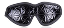 כיסוי עיניים מעוצב שחור מבריק