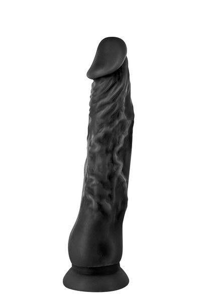 דילדו ריאליסטי שחור נצמד 21 סמ REAL JUSTIN