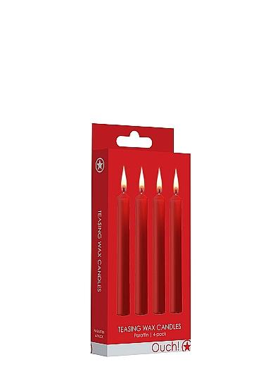 נרות ווקס אדומים לגירוי 4 יחידות