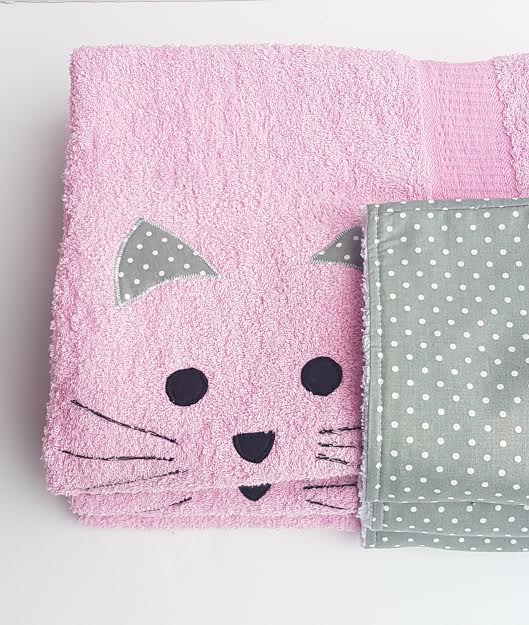 מגבת קפוצ'ון לתינוק חתול