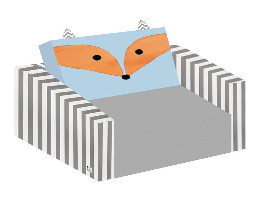 ספה לילדים דגם שועל