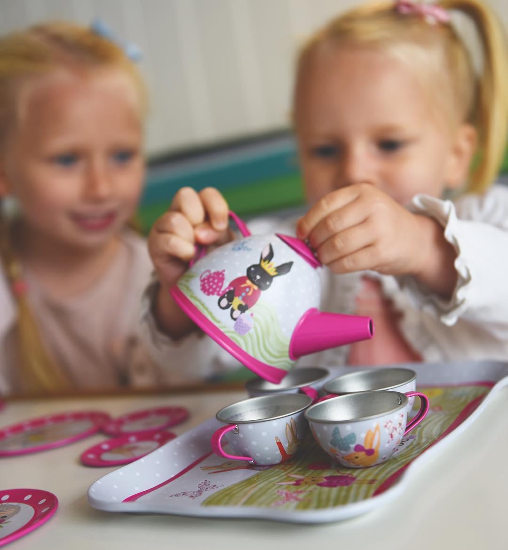 סט תה לילדות ארנבים