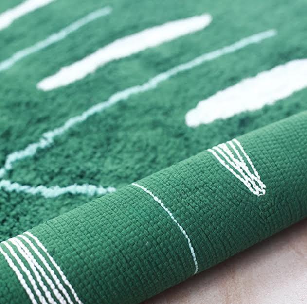 שטיח לחדר ילדים דגם עלה ירוק