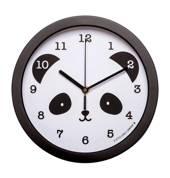 שעון לחדר ילדים פנדה