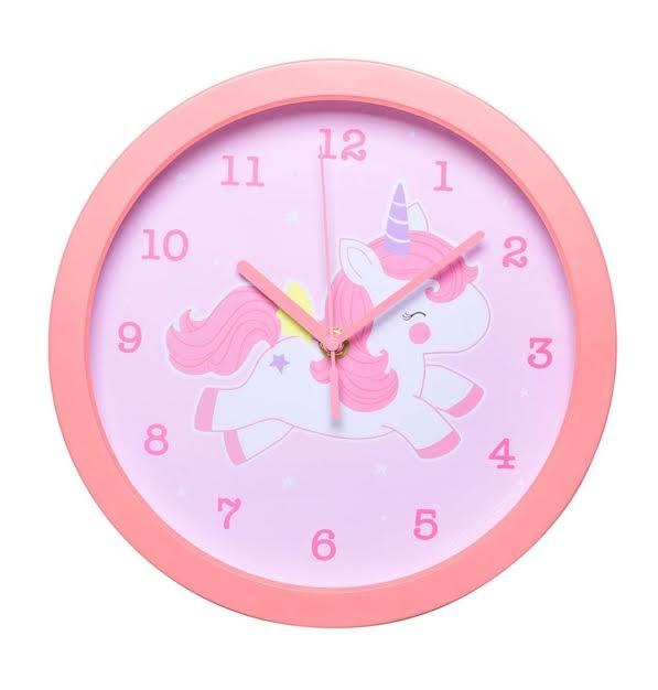 שעון לחדר ילדים דגם חד קרן