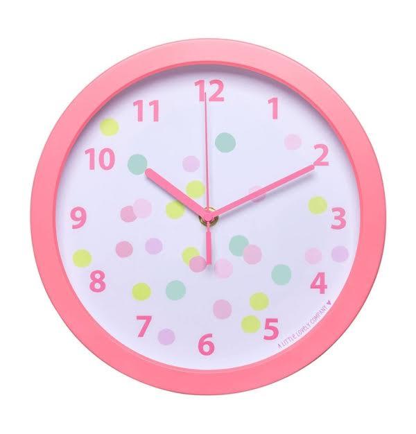 שעון לחדר ילדים  דגם קונפטי