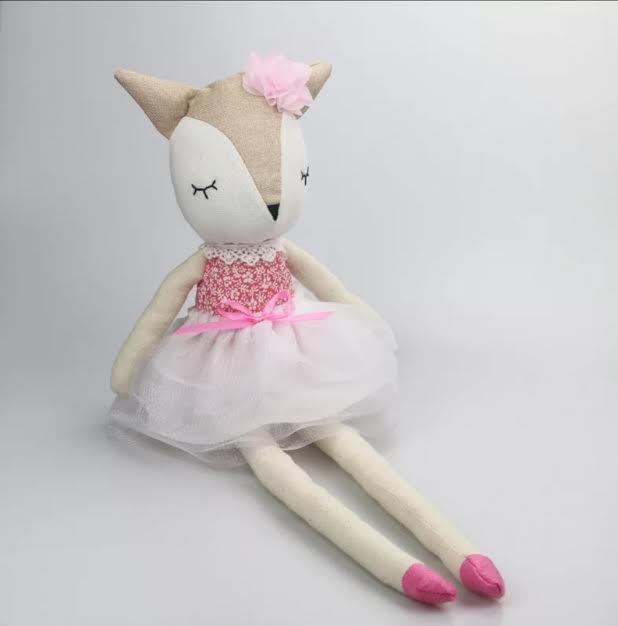 בובה לתינוק בובה לילדים דגם בובת בד שועל אקססוריז עיצוב חדר ילדים