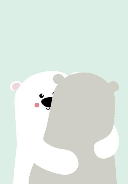 תמונה לחדר ילדים דובי קוטב מחובקים
