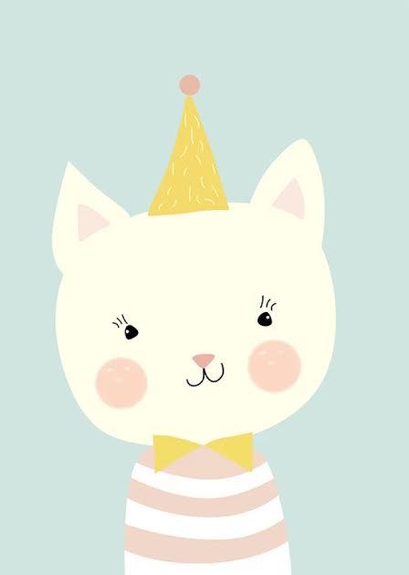 תמונה לחדר ילדים חתול