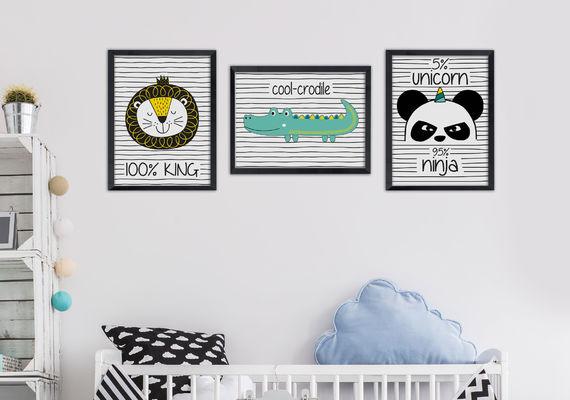 תמונה לחדר ילדים דגם פנדה נינגה
