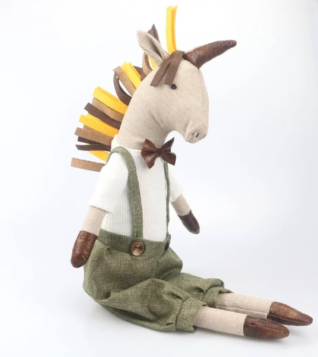 בובה לתינוק בובה לילדים דגם בובת בד חד קרן אקססוריז עיצוב חדר ילדים