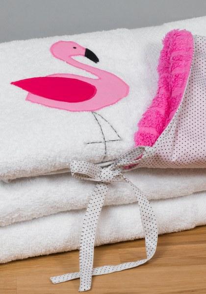 מגבת קפוצון לבנה פלמינגו