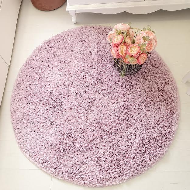 שטיח עגול לחדר ילדים סגול לילך בהיר