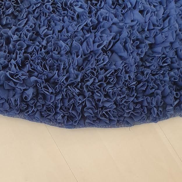 שטיח עגול לחדר ילדים כחול נייבי