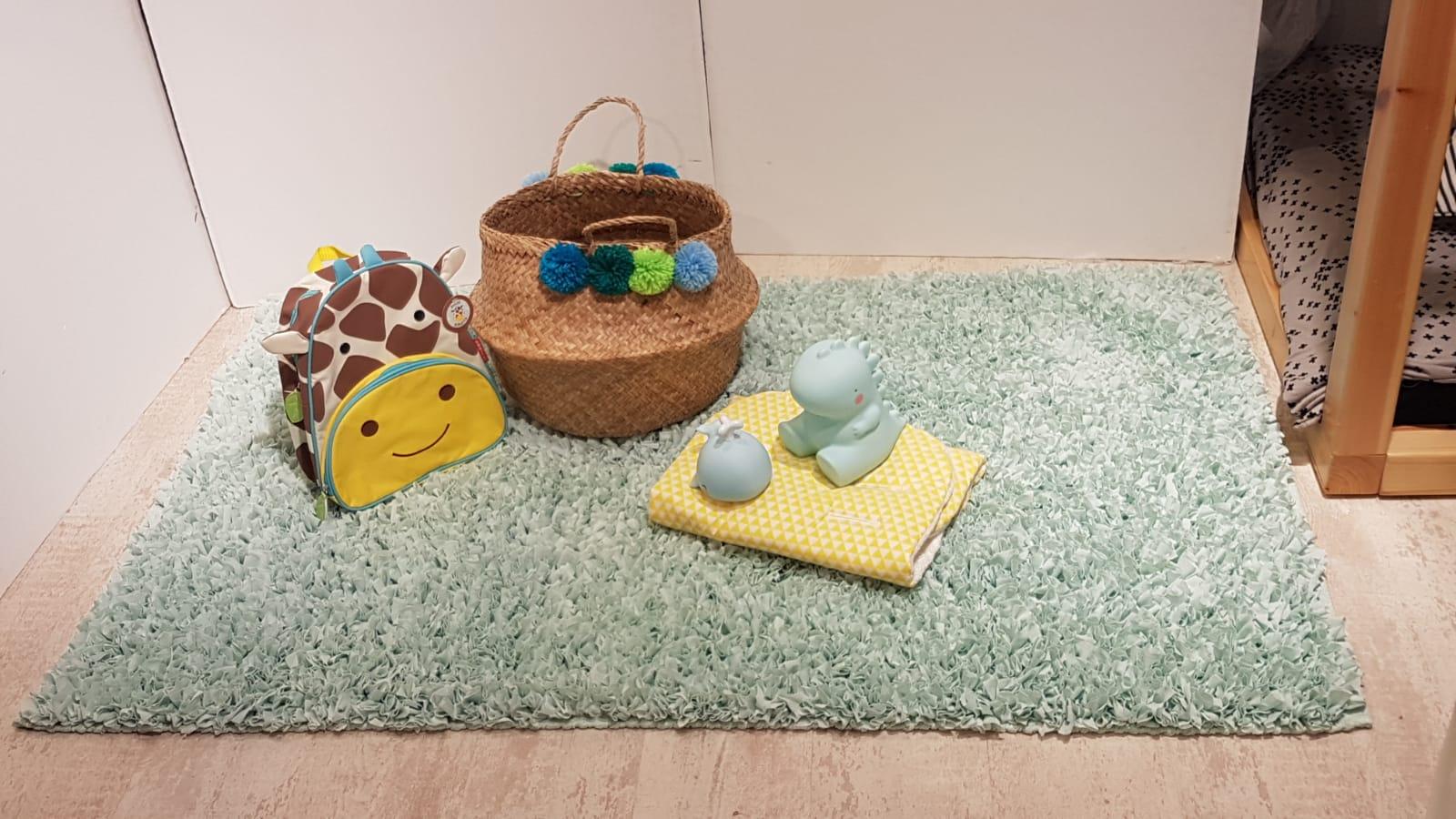 שטיח עגול לחדר ילדים טורקיז 120 קוטר