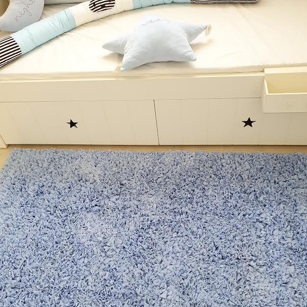שטיח לחדר ילדים מלבני תכלת בייבי