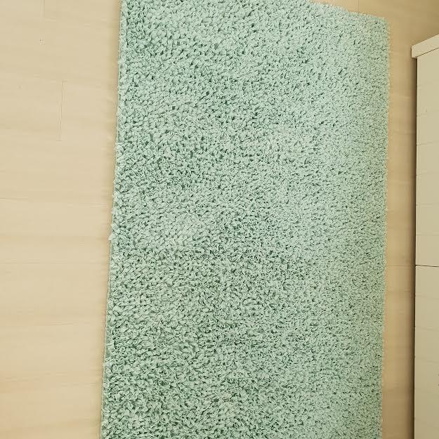 שטיח לחדר ילדים מלבני טורקיז בהיר