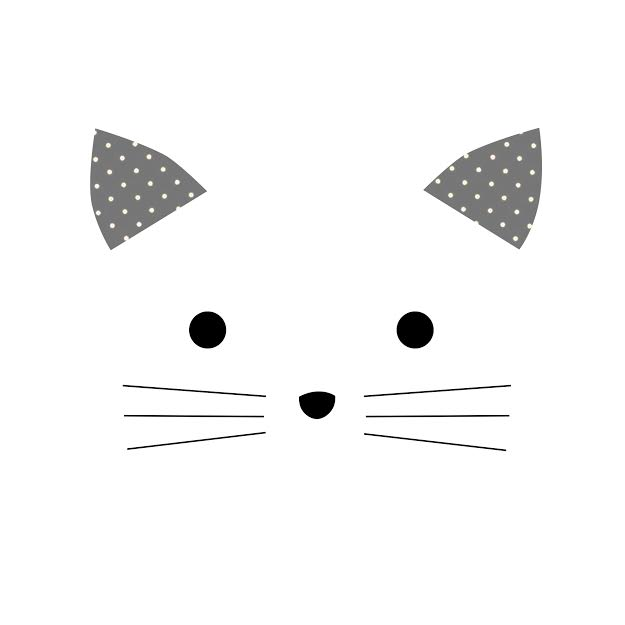 סל כביסה לתינוק דגם חתול לבן