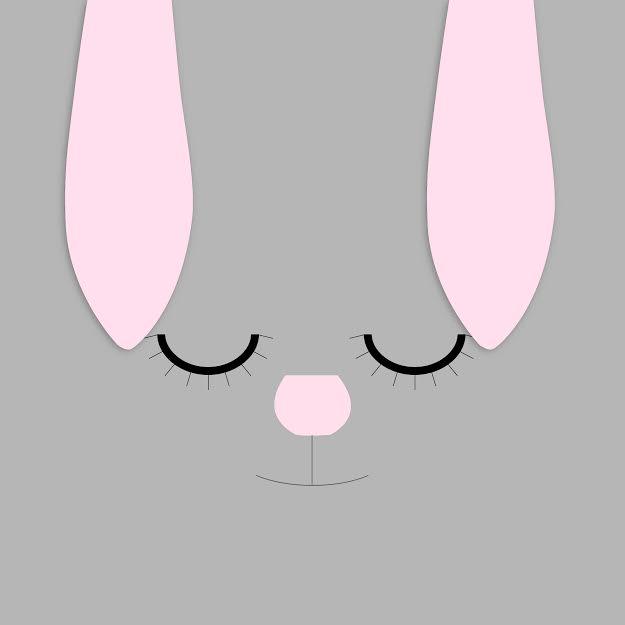 סל כביסה לתינוק ארנבון ביישן ורוד