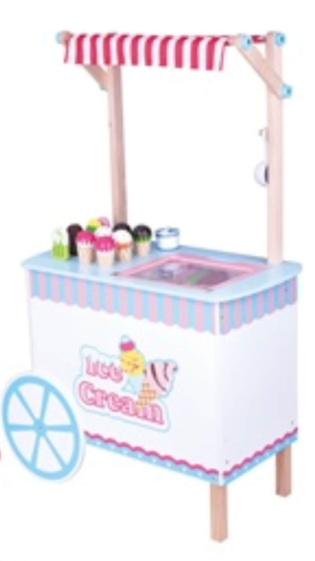 דוכן גלידות מעץ לילדים
