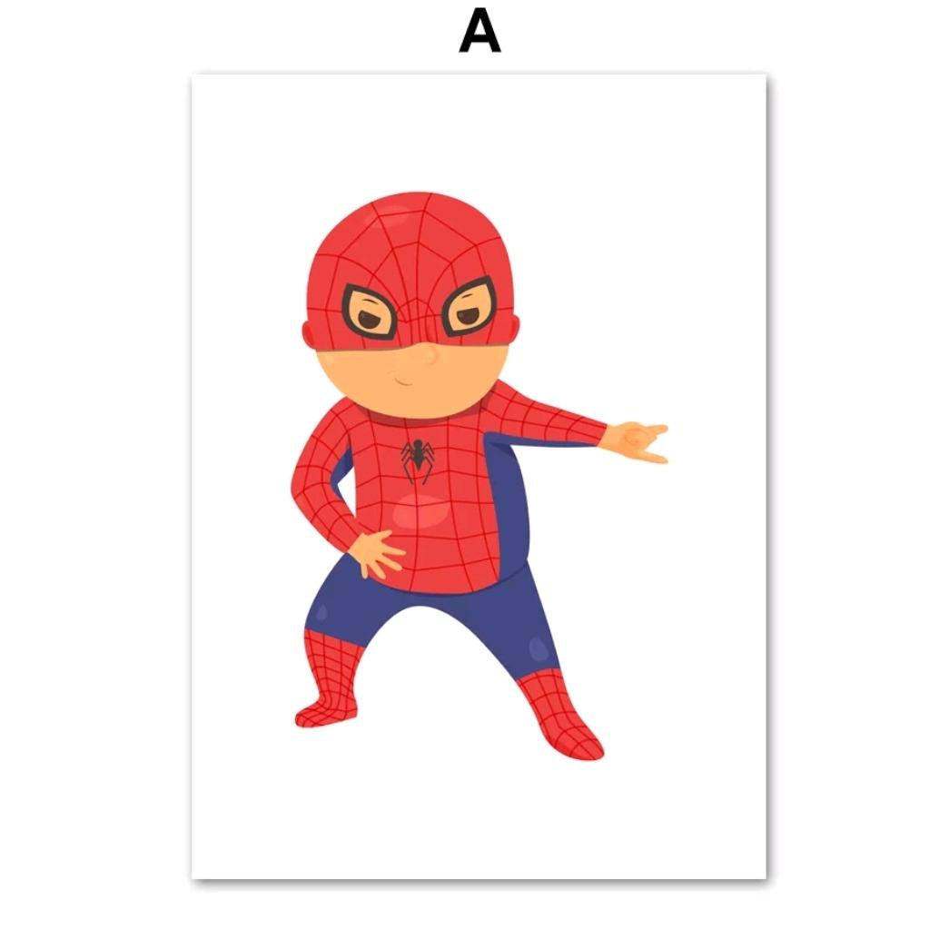 תמונה לחדר ילדים בדמות גיבורי על ספיידרמן