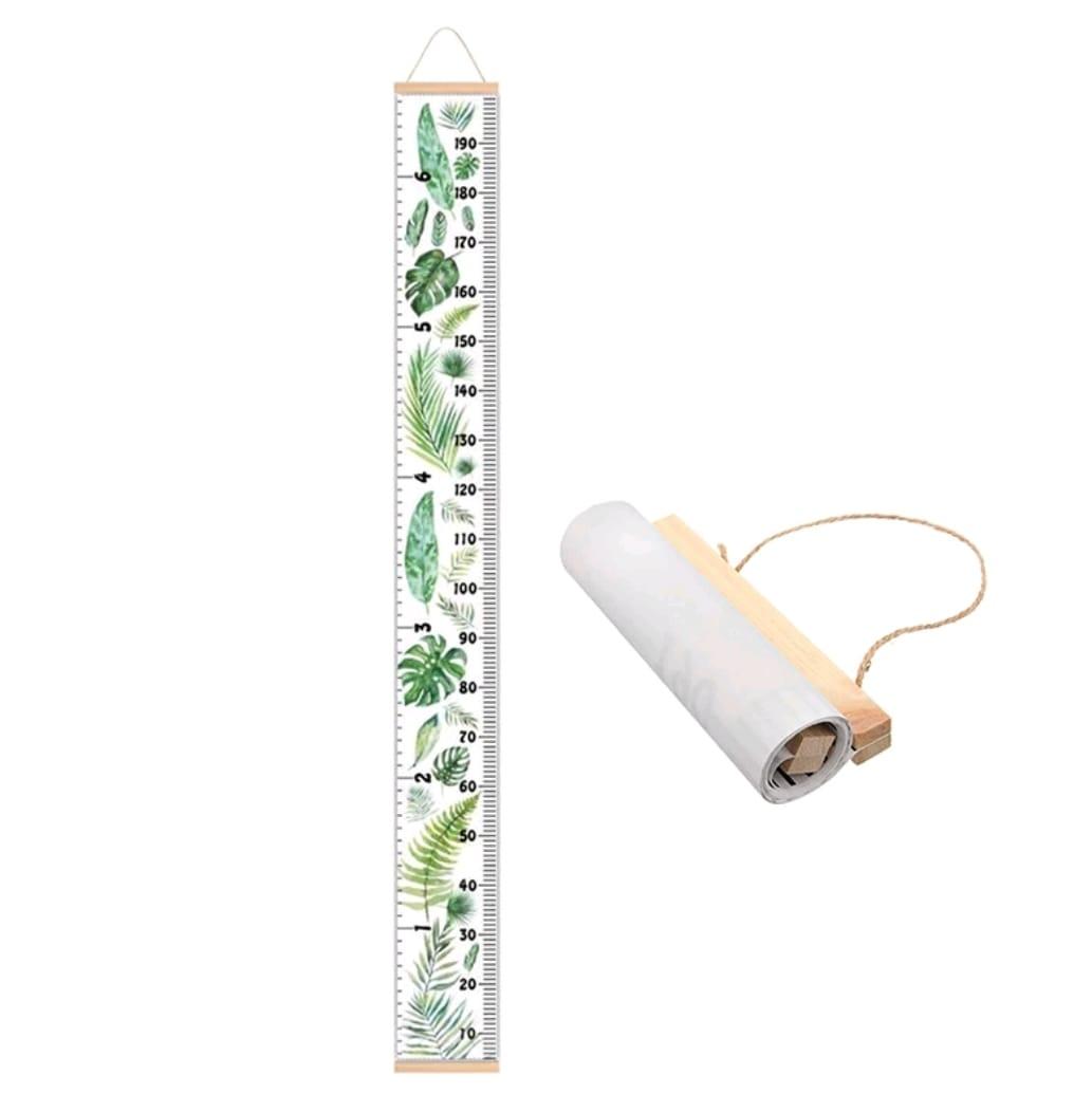 מד גובה לילדים אקססוריז שגדל איתם דגם עץ עלים ירוקים