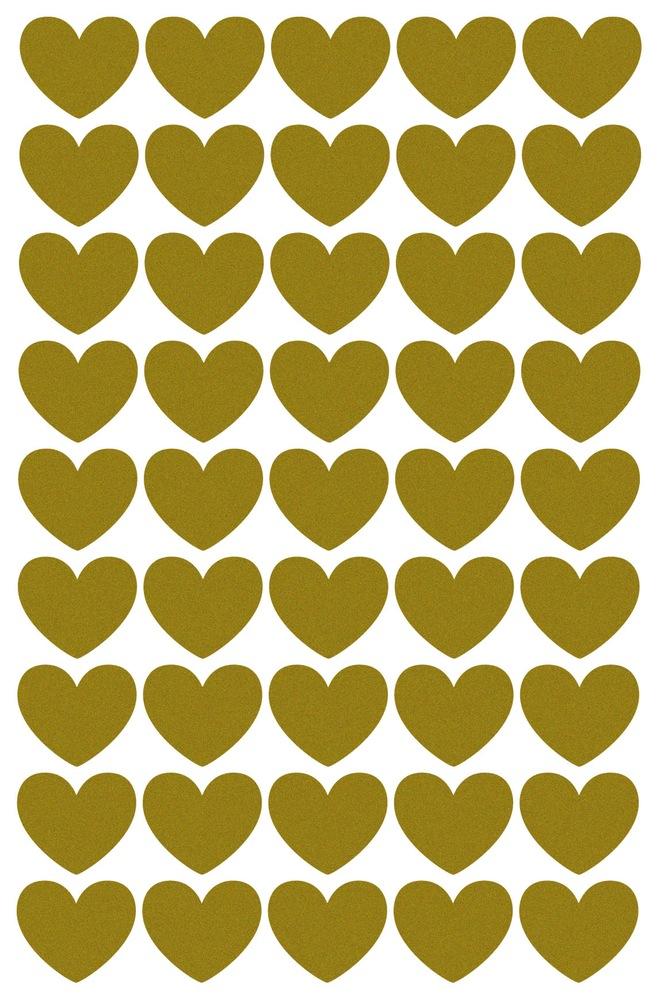 מדבקות לחדר ילדים זהב לבבות אקססוריז לחדר ילדים