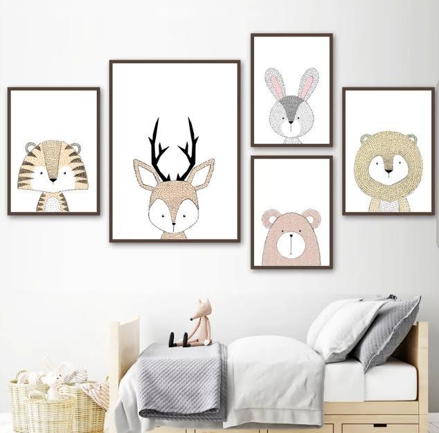 תמונה לחדר ילדים אריה