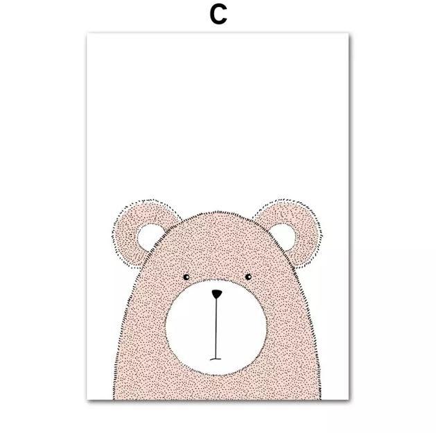תמונה לחדר ילדים דגם דוב