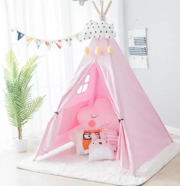 אוהל טיפי לחדר ילדים ורוד