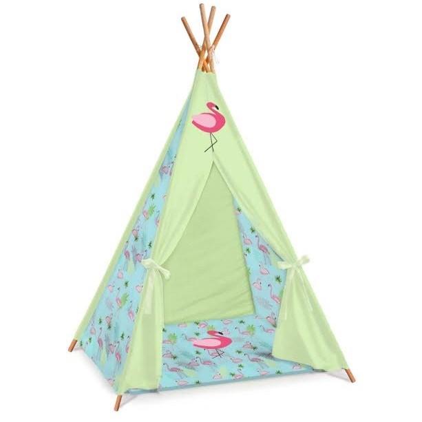 אוהל טיפי לחדר ילדים דגם פלמינגו טורקיז