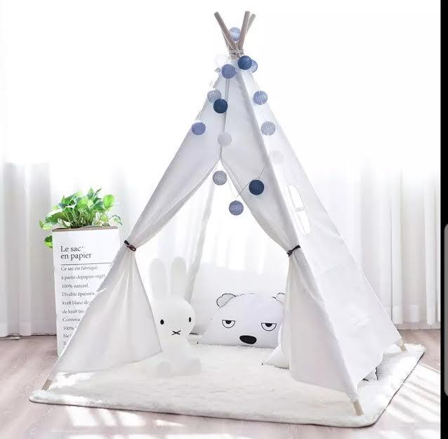 אוהל טיפי לחדר ילדים לבן