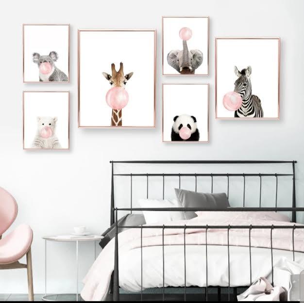 תמונה לחדר ילדים דגם זברה עם מסטיק