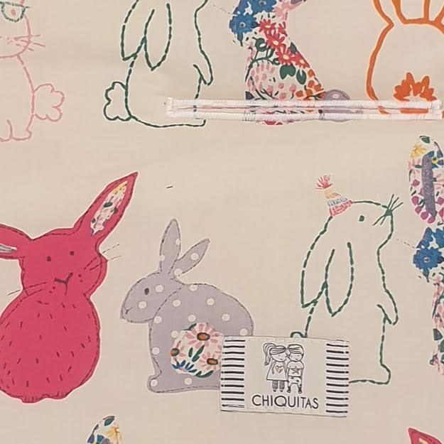 ריפודית לעגלה דגם ארנבים