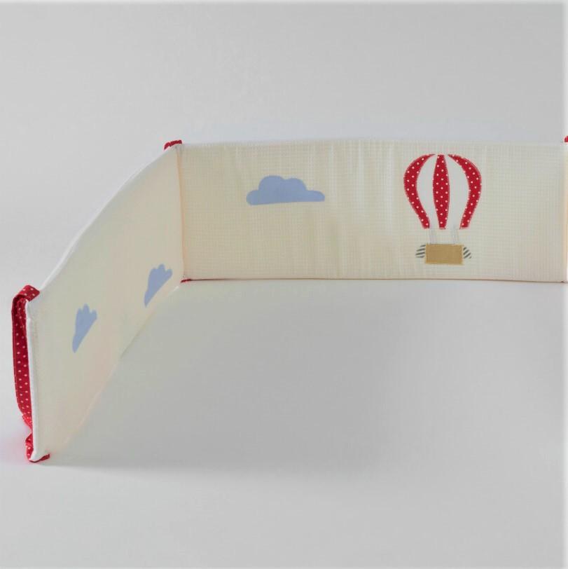 מגן ראש למיטת תינוק דגם כדור פורח