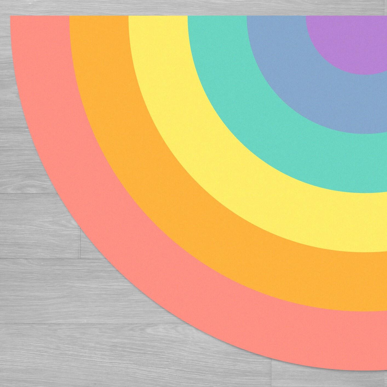 שטיח לחדר ילדים צבעי הקשת