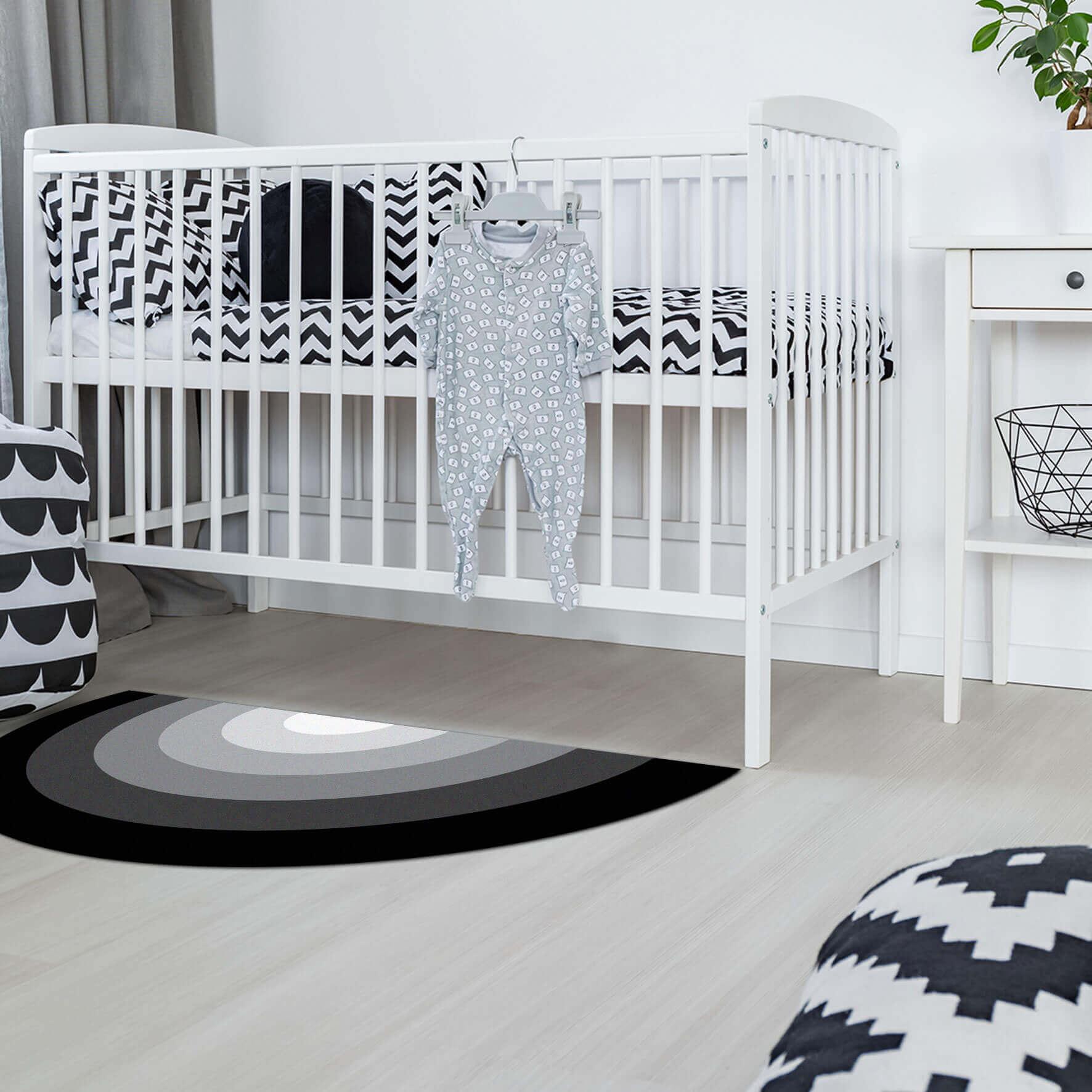 שטיח לחדר ילדים קשת שחור לבן