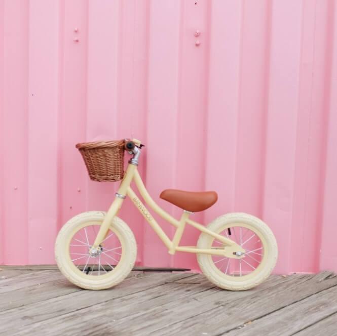 אופני איזון לילדים גוון שמנת