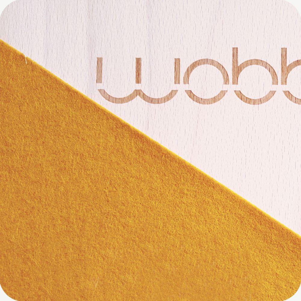 מגלת עץ לילדים wobbel pro גוון חרדל