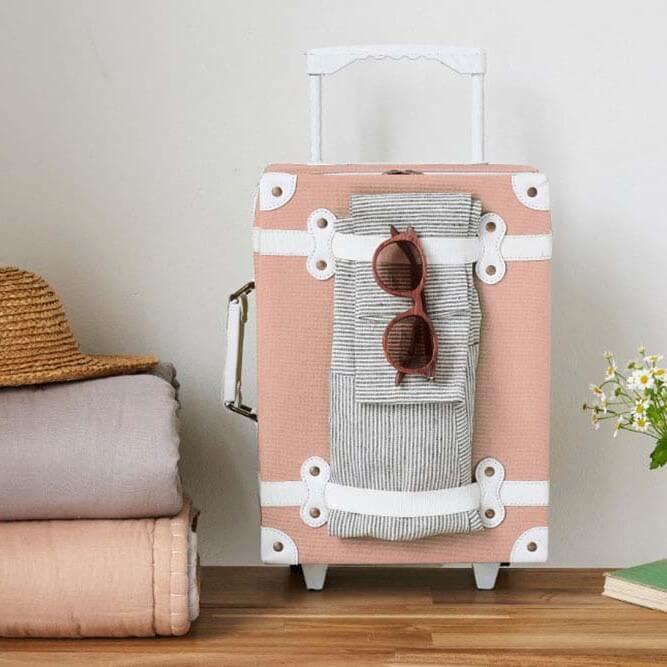 מזוודה לילדים מעוצבת גוון ורוד