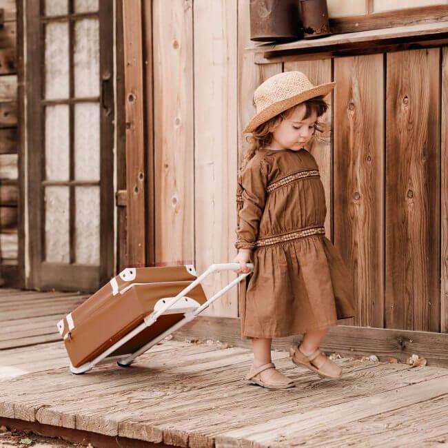 מזוודה לילדים בגוון חום