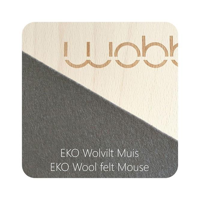 מגלשת עץ wobbel אוריגינל לבד אפור