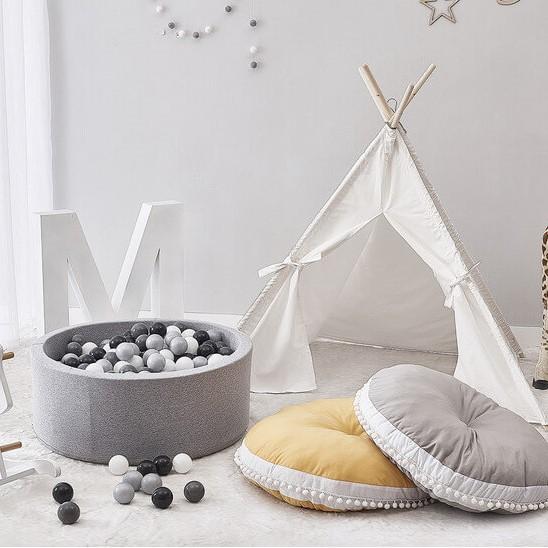 אוהל טיפי לחדר ילדים בד אוף וייט